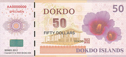 Specimen Île DOKDO Corée 50 Dollars 2012 UNC - Specimen