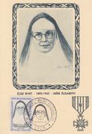 Carte Maximum 1er Jour   FRANCE   Oblitération   Grand  Format     HEROS    DE   LA   RESISTANCE   LYON    1961 - Cartes-Maximum