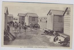 Ostende Oostende  La Plage Et Les Cabines About 1920y.  E637 - Oostende