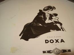 ANCIENNE PUBLICITE MONTRE DOXA 1952 - Autres
