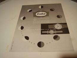 ANCIENNE PUBLICITE MONTRE  ESKA 1952 - Gioielli & Orologeria
