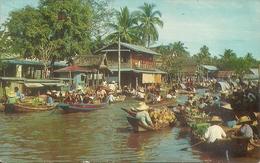Bangkok (Thailand) Scenery Of The Floating Market - Tailandia