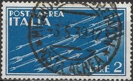 ITALY 1930 Air. Arrows - 2l - Blue FU - Correo Aéreo