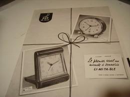 ANCIENNE PUBLICITE REVEIL  JAZ 1954 - Bijoux & Horlogerie