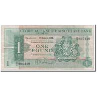 Billet, Scotland, 1 Pound, 1961, 1961-03-01, KM:195a, TB - Ecosse