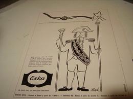 ANCIENNE PUBLICITE MONTRE GOUT ET QUALITE  ESKA 1953 - Autres