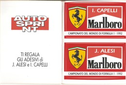 2 ADESIVI CAMPIONATO DEL MONDO DI FORMULA 1 1992 - J.ALESI - I.CAPELLI - Adesivi