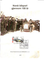 Norway Norge 2007 Norsk Filatelistforbunds Memory Sheet Nr 23, Rally - Car, Mi 1599. Cancelled - Norvège