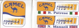 Adesivo Originale Camel Formula 1 Team Riccardo Patrese- Nigel Mansell - Adesivi