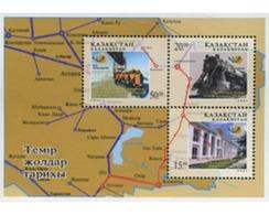 Ref. 199402 * MNH * - KAZAKHSTAN. 2001. 10 ANIVERSARIO DE LA SOCIEDAD FERROVIARIA DE KAZAJSTAN - Kazakhstan