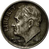 Monnaie, États-Unis, Roosevelt Dime, Dime, 1986, U.S. Mint, Philadelphie, TTB - Émissions Fédérales