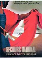 "Militaria WW2  -  Photo Affiche Vichyste - ""Secours National - Campagne D'hiver 1942/1943"" - 1939-45"
