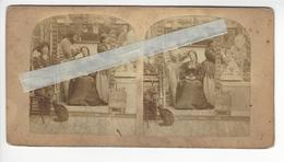 COIFFEUR ET BARBIER Circa 1855 PHOTO STEREO /FREE SHIPPING REGISTERED - Fotos Estereoscópicas