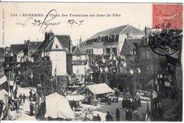 89 // AUXERRE // PLACE DES FONTAINES UN JOUR DE FETE - EDITEUR NORDMANN N°145 - Auxerre