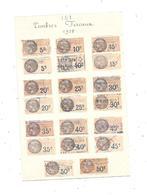 Lot De 20 Timbres Fiscaux FRANCE 1925 - Revenue Stamps