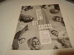 ANCIENNE PUBLICITE SKI  EN SUISSE 1953 - Advertising