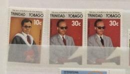 Trinidad & Tobago  1986 75th Eric Williams Set Of 5 MNH  Inc Sg 717 And 718 2 Scans - Trinidad & Tobago (1962-...)