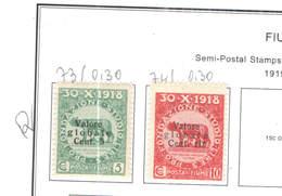 Italia Fiume  1919/20 Lupa Surch.Scott.B 73/74 See Scan On Scott.Page - 8. Occupazione 1a Guerra