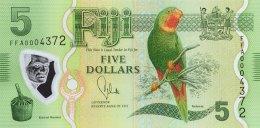 Fiji 5 Dollars, P-115 (2013) - UNC - Fidji