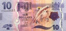 Fiji 10 Dollars, P-116 (2013) - UNC - Fidji
