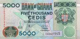 Ghana 5.000 Cedis, P-34h (2.9.2002) - UNC - Ghana