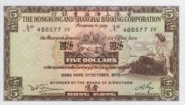 Hong Kong 5 Dollars, P-181f (31.10.1973) - UNC - Hongkong