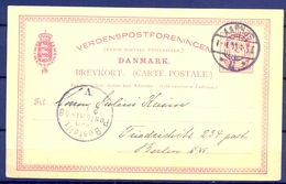 1900 , DINAMARCA , ENTERO POSTAL CIRCULADO , AARHUS - BERLIN , LLEGADA - 1864-04 (Christian IX)