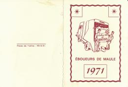 Calendrier 1971 : Meilleurs Voeux Des éboueurs De Maule (Yvelines) - Calendars