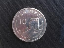 1988 Gilbraltar Large 10 Ten Pence Coin - AU About Uncirculated - Gibraltar