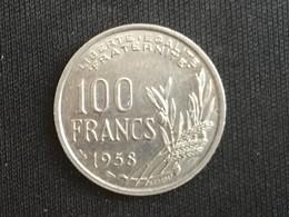 1958 France Francais 100 Cent Francs Coin, Scarce No 'B' Mark - EF Extremely Fine - France