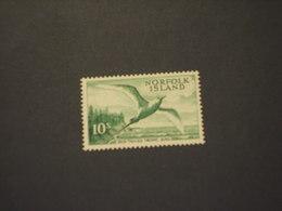 NORFOLK - 1960/3 UCCELLO  10 Sh. - NUOVO(++) - Isola Norfolk