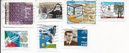 Lotto 7 Usati Differenti Anno 2010 - Su Frammento - Used Lot Italy - 6. 1946-.. Repubblica