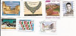 Lotto 9 Usati Differenti Anno 2009 (7Pz.) E 2008 (2Pz.) - Su Frammento - Used Lot Italy - 6. 1946-.. Repubblica