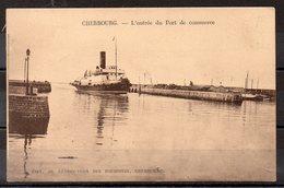CPA 50 -CHERBOURG -(CH 502)   Gare Maritime  Transbordeur - Cherbourg
