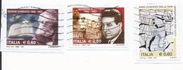 Lotto 8 Usati Differenti Anno 2007 (3Pz.) E 2006 (5Pz.) - Su Frammento - Used Lot Italy - 6. 1946-.. Repubblica