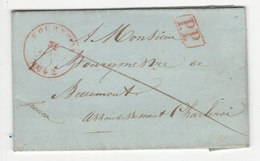 Belgique. Précurseur Envoyé De Ingelmunster Vers Beaumont En 1842. Désolé, Je N'y Connais Rien (voir Scans) - 1830-1849 (Belgique Indépendante)