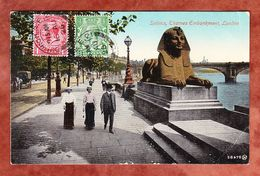 Sphinx, Thames Embankment, London, MiF Koenig George, Nach Wien 1926 (55089) - River Thames