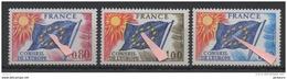 FRANCE Conseil De L'Europe Maury N° 48-50. Variétés: étoiles Décalés. Valeur Des Timbres Sans Variété : 11 Euros TTB - European Ideas