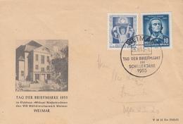 Enveloppe  ALLEMAGNE  DDR   Journée  Du  Timbre   WEIMAR   1955 - DDR