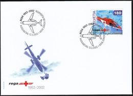 Switzerland Zurich 2002 / Air Rescue, REGA, Helicopter / FDC - FDC