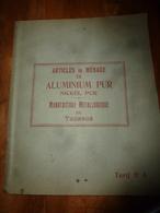 1930 Tarif N° 5  - Articles De Ménage En Aluminium Pur Et Nickel Pur - Manufacture Métallurgique De TOURNUS - Frankreich