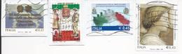 Lotto 9 Usati Differenti Anno 2005 (4Pz.) E 2004 (5Pz.) - Su Frammento - Used Lot Italy - 6. 1946-.. Repubblica