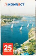 EGYPT - Nile River, IKonnect Internet Prepaid Card 25 Megabytes, Used - Egipto