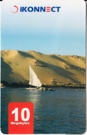 EGYPT - Nile River, IKonnect Internet Prepaid Card 10 Megabytes, Used - Egypt