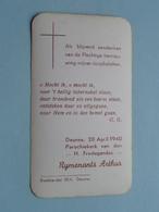 Communie Van Arthur RIJMENANTS Te DEURNE Kerk H. Fredegandus Op 28 April 1940 ( Zie Foto's ) ! - Communion