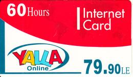 EGYPT - Yalla Internet Prepaid Card 79.90 L.E.(60 Hours), Mint - Egypt