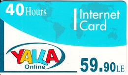 EGYPT - Yalla Internet Prepaid Card 59.90 L.E.(40 Hours), Mint - Egypt