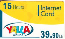 EGYPT - Yalla OnlIne Internet Prepaid Card 39.90 L.E.(15 Hours), Mint - Egypt