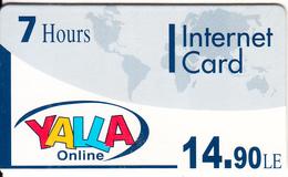 EGYPT - Yalla OnLine Internet Prepaid Card 14.90 L.E.(7 Hours), Mint - Egypt