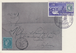 Carte  Maximum  FRANCE  Emission  De  BORDEAUX  1970 - Cartes-Maximum